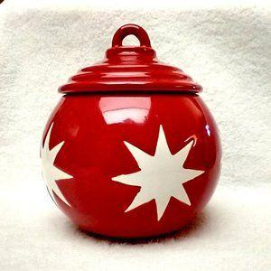Ceramic Ornament Trinket Box w/lid